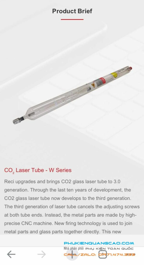 # Ống phóng laser co2 Reci